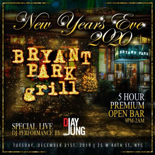Bryant Park grill New Years